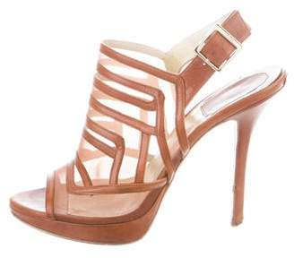 Christian Dior Leather Platform Sandals