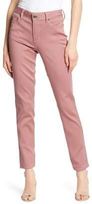Seven7 Mid Rise Straight Leg Jeans