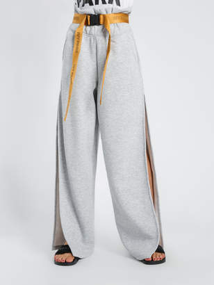 Ivy Park Paperbag Wide Leg Joggers in Grey Marle