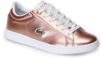 Lacoste Children's Carnaby Evo Silver Synthetic Trainers