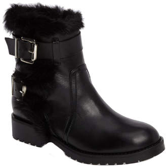 Charles David Rustic Leather Moto Bootie