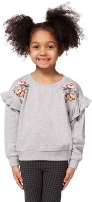 Dex Little Girl's Embroidered Cotton Blend Top