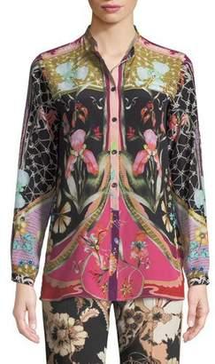 Etro Garden Of Eden Silk Button-Front Shirt