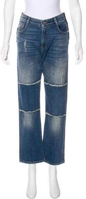 Stella McCartney Mid-Rise Distressed Jeans