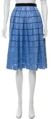 Tibi Knee-Length Woven Skirt