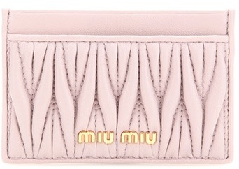 Miu Miu Miu Miu Matelassé Leather Card Holder