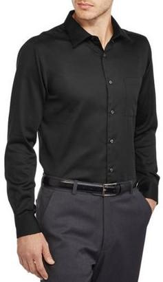George Men's Slim Fit Sateen Dress Shirt