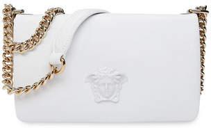 Versace Lamb Leather Shoulder Bag with Medusa Head