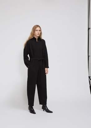 Black Crane Long Sleeve High Neck Jumpsuit
