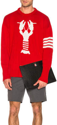 Thom Browne Lobster Icon Pullover in Red | FWRD
