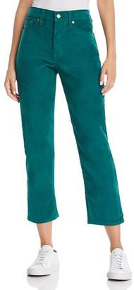 Levi's Wedgie Straight Corduroy Jeans in Evergreen