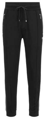 BOSS Hugo Loungewear pants in cotton-blend pique L Black