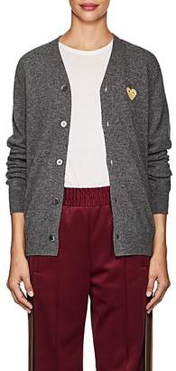 Comme des Garcons Women's Heart Wool Cardigan - Gray