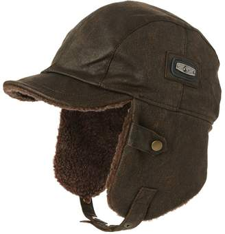 ce4e9827092 Siggi Unisex Pilot Hat Aviator Cap Leather Adult Brown Mens Women Winter  Trapper Hunting Hats