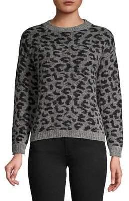 Marella Leopard-Print Crewneck Sweater
