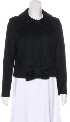 Pink Tartan Wool and Cashmere-Blend Jacket