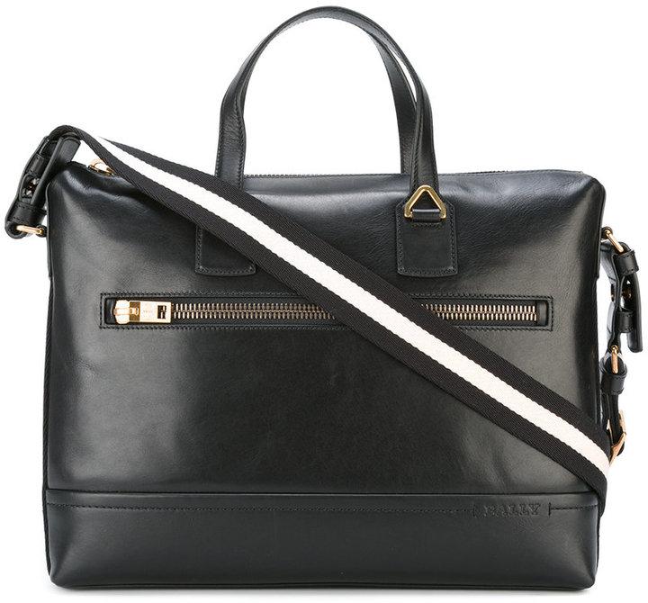 BallyBally striped strap laptop bag