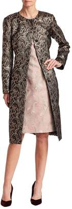 Oscar de la Renta Women's Silk Jacquard Coat