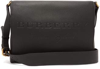 Burberry Grained-leather messenger bag