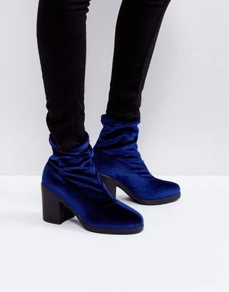Truffle Collection Chunky Heel Sock Boot