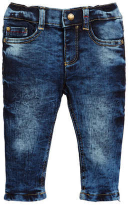 Mayoral Acid Wash Straight-Leg Denim Jeans, Size 6-36 Months
