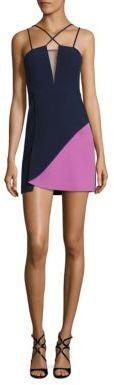 BCBGMAXAZRIA Woven Colorblock Evening Dress $248 thestylecure.com
