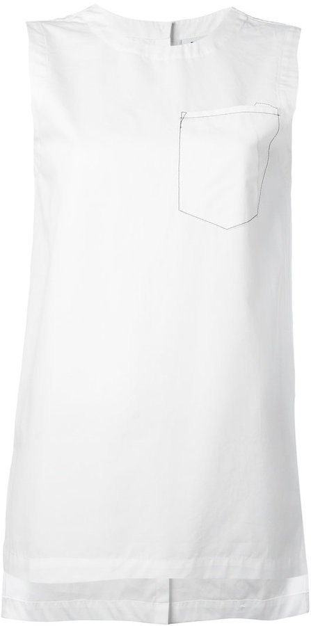 DKNY DKNY sleeveless top with front pocket