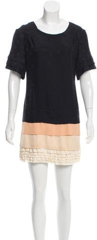 Marc By Marc JacobsMarc by Marc Jacobs Ruffle-Trimmed Silk Dress