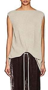 Rick Owens Women's Nouveau Draped-Back Textured Top - Pearl
