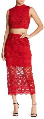 Love + Harmony Crochet Knit Tank Top & Skirt 2-Piece Set