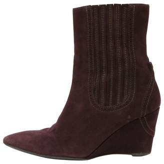Fratelli Rossetti Burgundy Suede Ankle boots