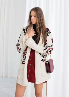 And other stories Southwestern Knit Belted Cardigan