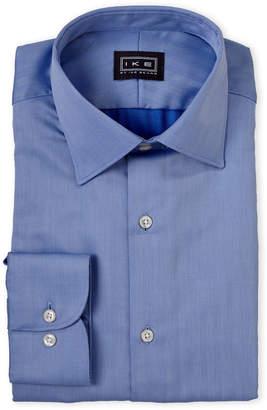 Ike Behar Ike By Blue Vertical Chevron Dress Shirt