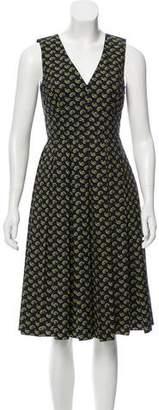 Michael Kors Paisley Print Pleated Dress w/ Tags