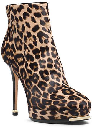 Michael Kors Layton Leopard Hair Calf Ankle Boot