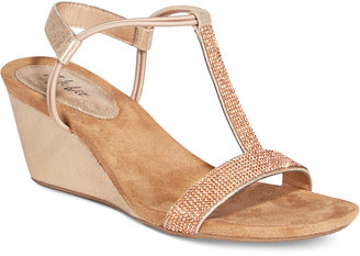 Style & Co Mulan 2 Embellished Evening Wedge Sandals, Only at Macy's $44.98 thestylecure.com