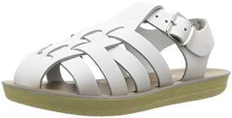 Salt Water Sandals by Hoy Shoe Girls' Sun-San Sailor Flat Sandal