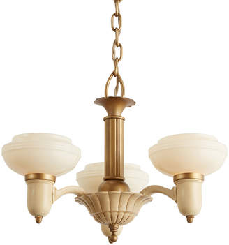Rejuvenation Three-Light Art Deco Chandelier w/ Cup Shades