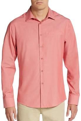 Vince Camuto Men's Regular-Fit Mock-Pocket Sportshirt