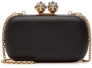 Alexander McQueen Queen and King Skull Box Clutch