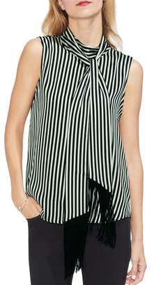 Vince Camuto Sleeveless Tie Neck Blouse
