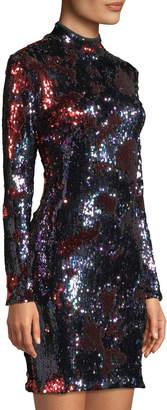 Dress the Population Katy Long-Sleeve Sequin Bodycon Dress