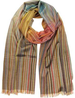 Paul Smith Signature Stripe Wool & Silk Men's Scarf