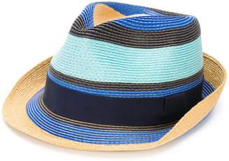 Etro striped fedora hat