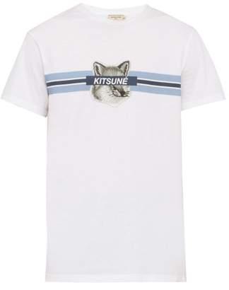 MAISON KITSUNÉ Fox Print Cotton T Shirt - Mens - White