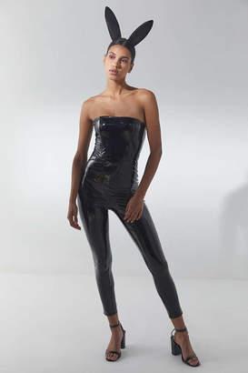 Black Pleather Catsuit