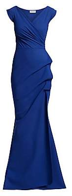 Chiara Boni Women's Egea Cap-Sleeve Jersey Gown