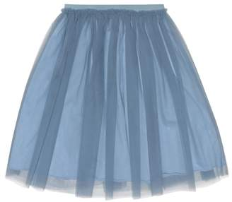 Il Gufo Jersey-lined tulle skirt
