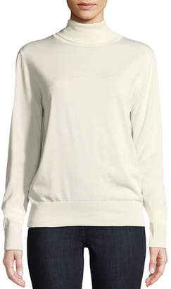 The Row Donnie Turtleneck Long-Sleeve Cashmere-Blend Top