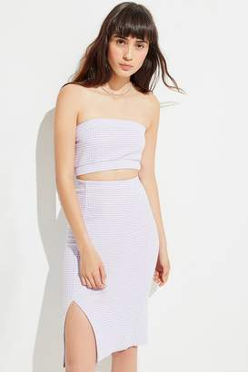 Urban Outfitters Truce Gingham Midi Skirt